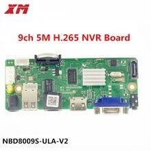 Xm original h.265 9ch 5mp cctv nvr segurança rede gravador de vídeo suporte onvif hdmi smartphone pc para sistema de câmera ip