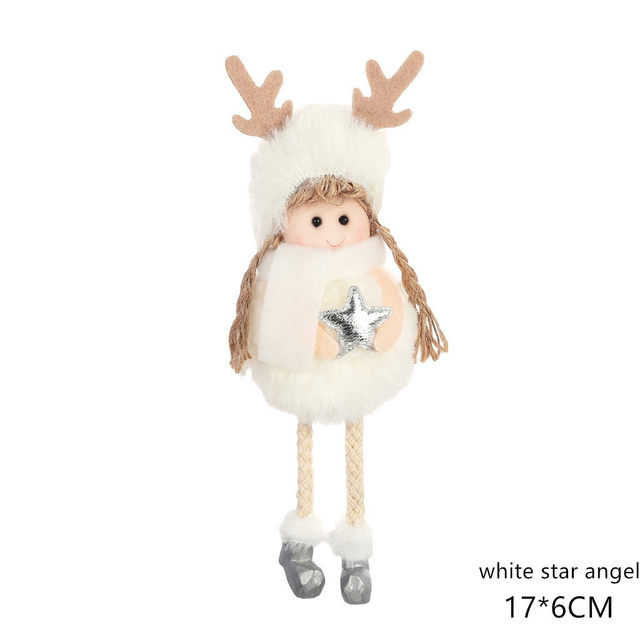 New Year 2020 Cute Santa Claus/Snowman/Angel Christmas Dolls Noel Christmas Tree Decoration for Home Xmas Navidad 2019 Kids Gift 181