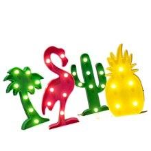LED Night Light Lamp for home Wall children's night lights unicorn and Star Lights Pineapple Cactus christmas cartoon decoration