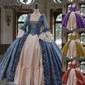WEPBEL женские дворец крученым кружевом в средневековом стиле; В винтажном стиле; В викторианском стиле платья размера плюс с высокой талией с ...