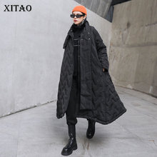 Parkas XITAO Pocket Plus-Size Winter Women Fashion New Single-Breast No Casual Full ZY2489