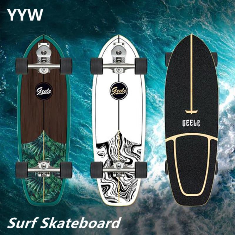 Профессиональный Скейтборд S7 Carver Surf Land, высокогладкий кленовый Круизер, скейтборд, лонгборд для стрит, чистящая резьба по дереву 2021