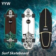 Profissional s7 carver surf skate terra altamente suave bordo cruiser skate placa longboard para escovação de rua escultura 2021