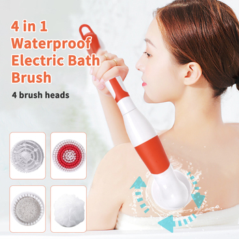 Battery Operated Electric Bath Brush Waterproof Remove Exfoliating Body Shower Brushers Silicone Spa Rub Massage Body Scrubber 1