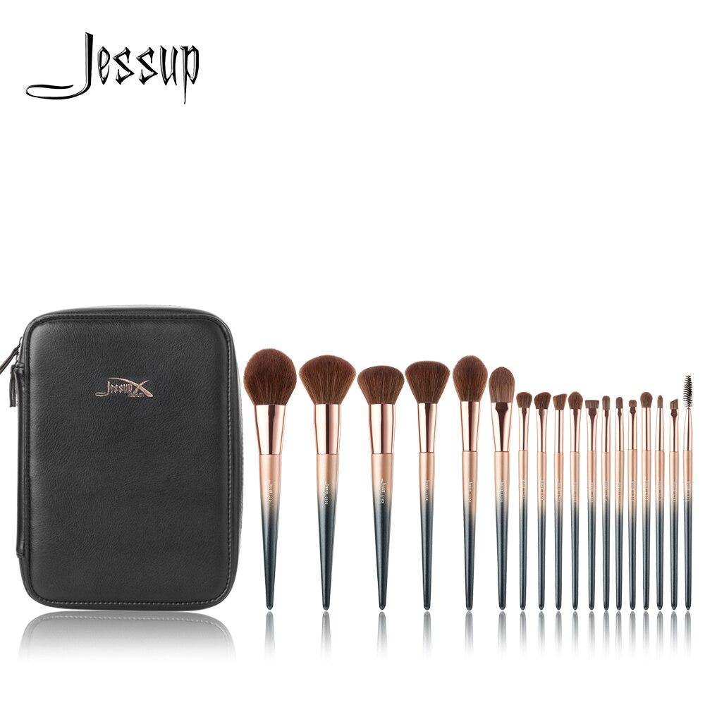 Набор кистей для макияжа Jessup, 18 кистей для макияжа и 1 косметичка для женщин, Кисть для макияжа, прецизионный карандаш для теней