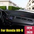 Для Honda HR-V вариабельности сердечного ритма HR V 2014 2015 2016 2017 2018 2019 2020 LHD/RHD приборной панели автомобиля Обложка коврик колодки анти-УФ чехол ковр...