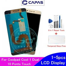 מקורי עבור Coolpad מגניב 1 כפולה LCD תצוגת 10 מגע מסך עבור Coolpad מגניב 1 C106 R116 C103 LCD מסך digitizer החלפה