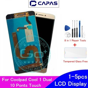 Image 1 - Original For Coolpad Cool 1 Dual LCD Display 10 Touch Screen For Coolpad Cool 1 C106 R116 C103 LCD Screen  Digitizer Replacement