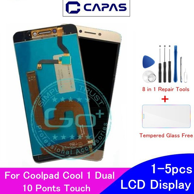 Original For Coolpad Cool 1 Dual LCD Display 10 Touch Screen For Coolpad Cool 1 C106 R116 C103 LCD Screen  Digitizer Replacement