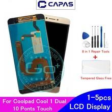 Orijinal Coolpad Cool Için 1 Çift LCD ekran 10 Dokunmatik Ekran Için Coolpad Serin 1 C106 R116 C103 LCD Ekran Digitizer yedek