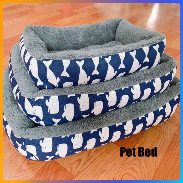 Dog Bed Cotton Dog Bed Waterproof Nest Dog Baskets Mat Soft Pet Bed Autumn Winter Warm Cozy Dog Cat House Pet Products Cat Bed 1