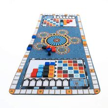 Tapete de juego para fiesta Azul, tapete de juego Azul