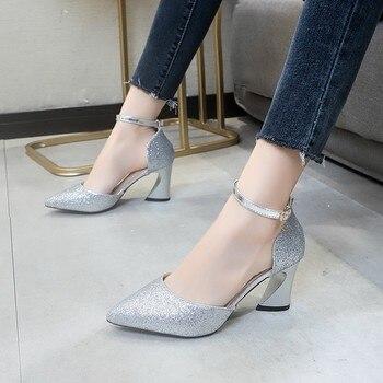 sandals for women summer 2020 new luxury brand silver sandals women strips pole dance shoes platform sandals босоножки женские 3
