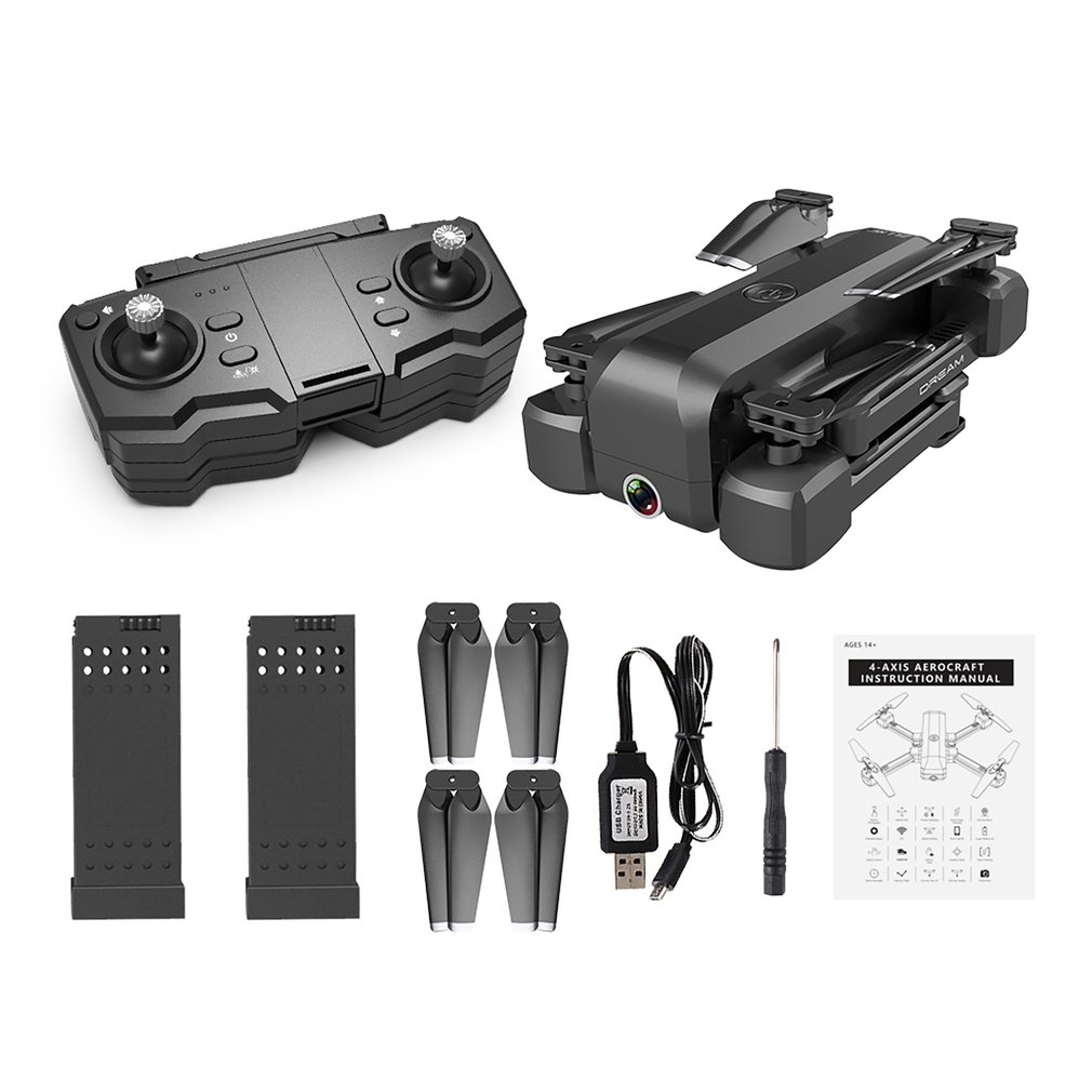 SG706 WiFi Foldable RC Drone 4K HD Dual Camera Optical Flow Smart Follow RC Helicopter Aircraft Remote Control Toys