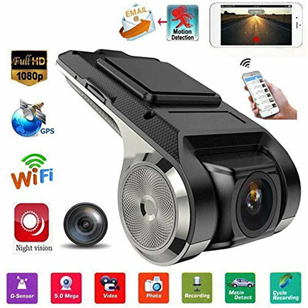 HD 1080P Penuh Mobil DVR 2MP Kamera Video Perekam WIFI GPS Adas G-Sensor Dash Cam USB dengan motion Detection Malam Visi G Sensor