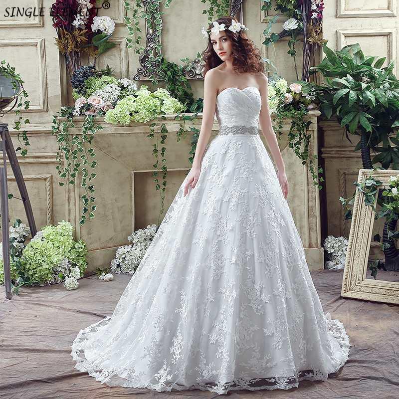 Robe De Mariage Swetheart 2019 Vestidos De Novia Bead Sash Wedding Dress Cheap A Line Wedding Gowns