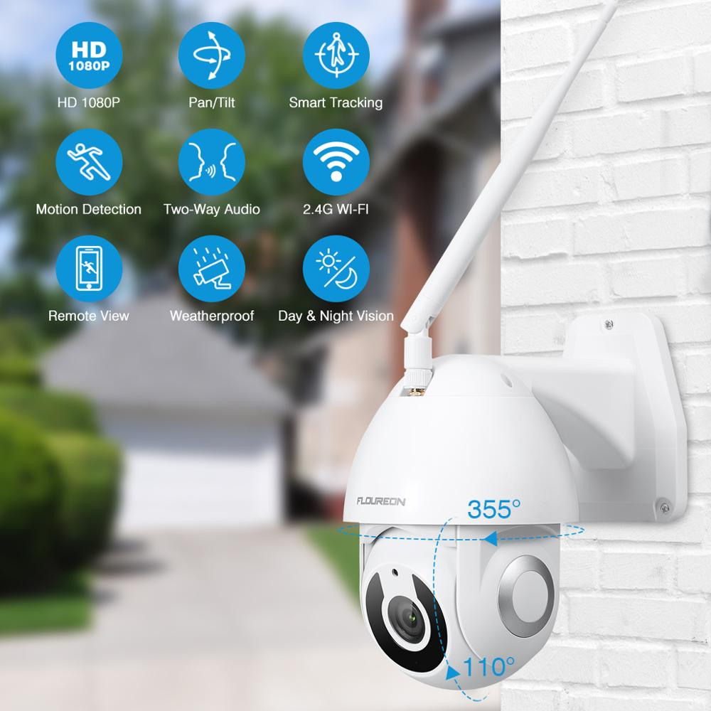 Image 2 - Floureon 2019 New 1080P HD IP Camera Wireless WiFi Outdoor Camera Smart Motion Tracking App Alarm Camera Compatible With Alexa-in Surveillance Cameras from Security & Protection