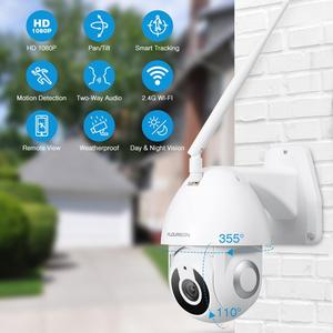 Image 2 - Floureon 2019 nueva 1080P HD cámara IP inalámbrica cámara exterior wi fi de movimiento inteligente aplicación de seguimiento alarma Cámara Compatible con Alexa.