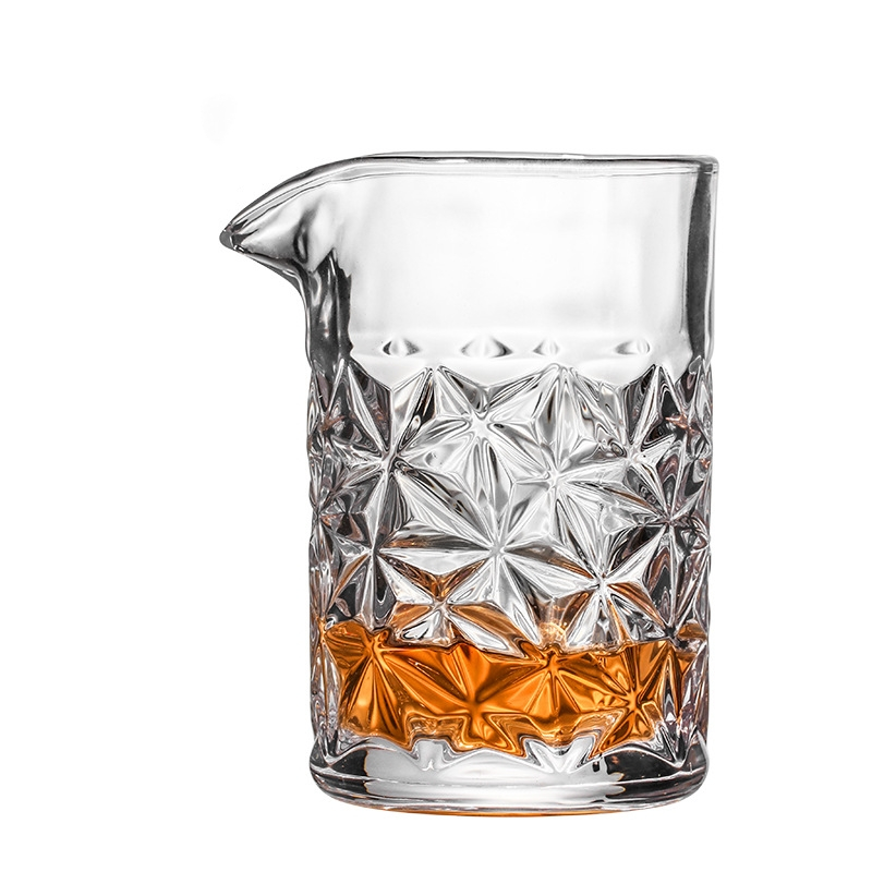480ml losango padrão estilo japonês cristal cocktail barra de vidro de mistura ferramentas