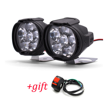 2PCS Motorcycle Headlight 1000LM Spotlight With Switch Auxiliary Lamp For KTM Duke 200 390 125 690 RC200 RC390 RC125 RC8 image