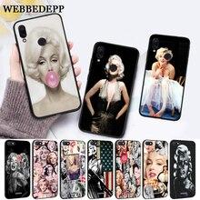 WEBBEDEPP Marilyn Monroe Silicone Case for Xiaomi Redmi Note 4X 5 6 7 Pro 5A  Prime