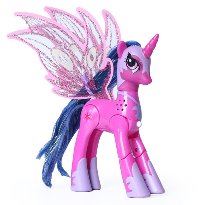 BlueStars Toys 6 colour My little ponie action figure anime Magic Rainbow ponies with light and music toys ponies toys for girls image