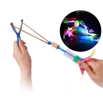 Flashing Catapult Toys Glowing Slingshot Flying Fairy Shape Toys For Night Market Square Exquisite Toys Fast Shipping New image
