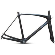 Son 53 54 56 50cm yeni karbon yol bisiklet iskeleti yol bisiklet bisiklet frameset marka çerçeve açıklığı çerçeve çatal ile karbon çerçeve