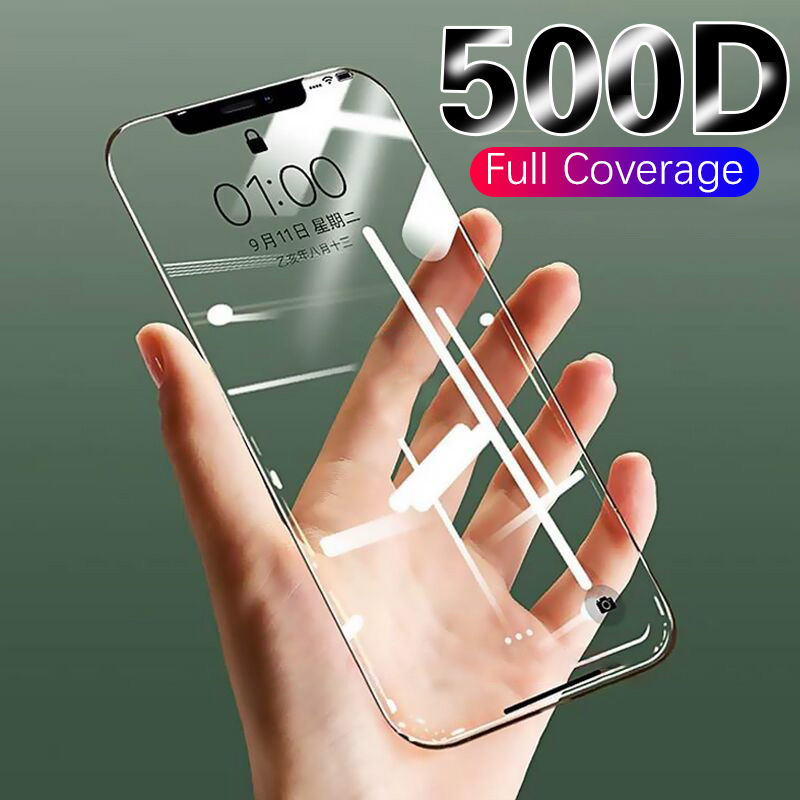 500D Protective Glass On The For IPhone 11 Pro X XS MAX 11 Glass Full Cover On IPhone 11 Pro Max XR Screen Protector Glass