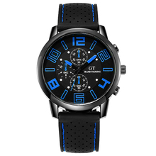 Mens Watches Male Three Eyes Calendar Quartz Watch Casual Slim Silica gel Sport Watch 2020 Gift reloj hombre Relogio Masculino
