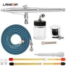 LAMEZIA 7/22cc Cup 0.2/0.3/0.5mm Nozzles Dual Action Airbrush Kit Spray Gun For Craft Cake Paint Art Paint Sprayer