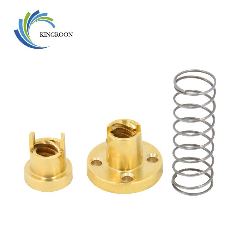 KINGROON T8 Anti Backlash Spring Loaded Nut Elimination Gap Nut For 2mm Acme Threaded Rod Lead Screws DIY 3D Printer Parts 2
