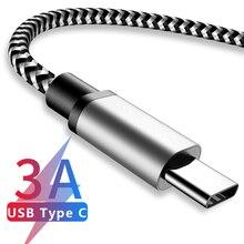 סוג C USB כבל 3.0A מהיר טעינת סוג C usb מטען כבל עבור סמסונג S9 S8 בתוספת Huawei Honor 10 9 לייט Tablet טלפון סוג C