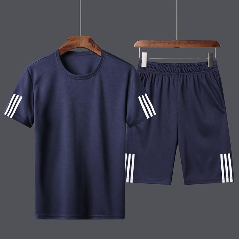 Tracksuit Man Sets Pants Summer New Men's  T Shirt Shorts Casual Suits Sportswear Mens Clothing Male Sweatshirt 2020