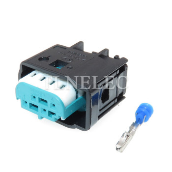 Tyco 4 Pin 0.6mm Female Waterproof Auto Sensor Connector Reversing Image Plug for Porsche VW Audi BMW Chery 1-967640-1 image