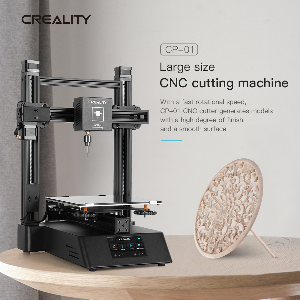 3 In 1 Ender Wood Router 3D Printer CNC 500mw Laser Engraving CREALITY CP-01 FDM Upgraded 3D Printing PLA ABS TPU PVA 5500mw