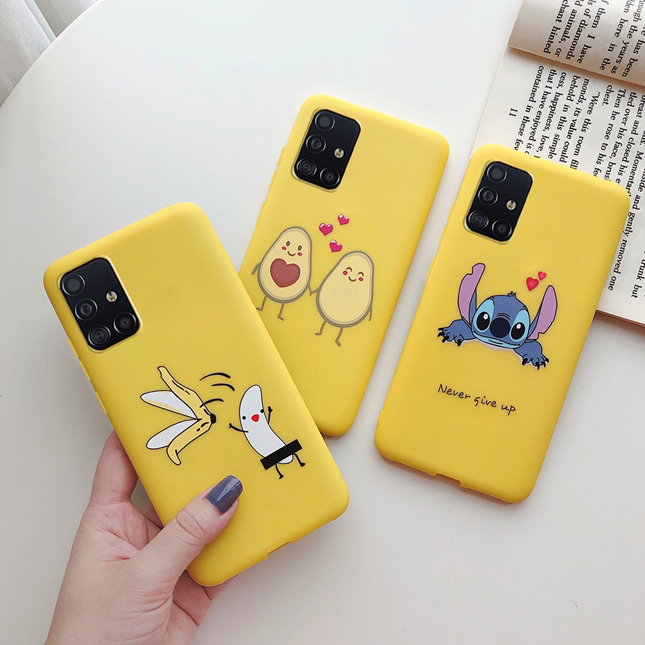For Cover Samsung Galaxy A51 Case Soft Ultra-Thin Painting TPU Silicone Back Cover For Samsung A51 SM A515F A515 A 51 Phone Case