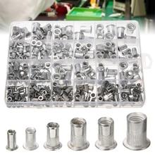300Pcs/Set Aluminum Rivnut Rivet Nut Insert Reveting Multi Size M3 M4 M5 M6 M8 Nutsert Kit ( 150pcs Metric + SAE )
