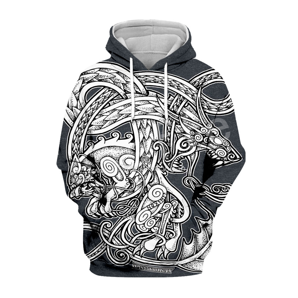 Tessffel Unisex Viking Tattoo Tracksuit New Fashion MenWomen HipHop 3DPrint Sweatshirts/Hoodie/shirts/Jacket Harajuku Casual s-2