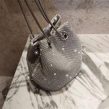 цены Evening bag with diamonds and rhinestones super flash diamond bucket bag Clutch bags with Chain Evening clutch bags