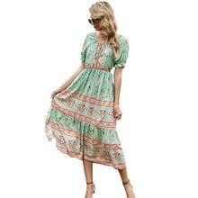 Vestidos longos de verao verão senhora mangas borboleta o-pescoço meados de bezerro vestidos venda quente senhoras casual impressão retalhos frau kleid