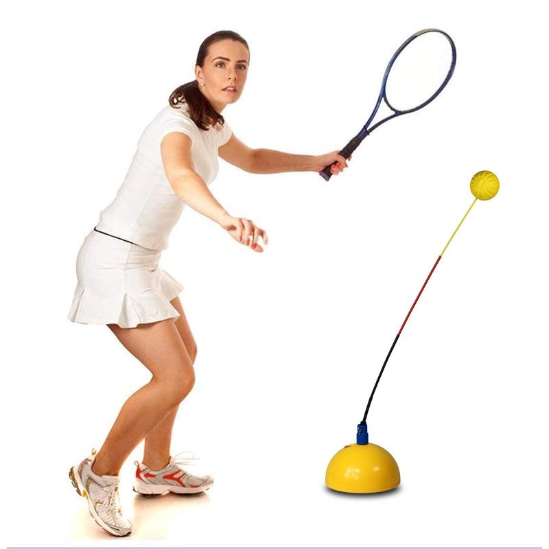 Hot Sale Soft Rod Tennis Trainer Machine Tennis Practice Tool Hit Training Machine Tennis Racket Training Equipment Home Gym