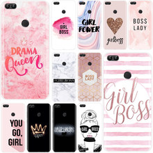 Boss Lady Girl Power Pelanggan Lembut Silicone Ponsel Case untuk Huawei P10 P20 Plus P8 P9 P10 P20 P30 Lite p20 P30 Smart Pro(China)