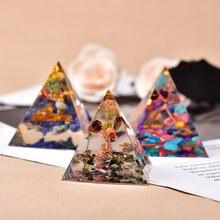 Pyramide Orgone en cristal de guérison, Chakra fait à la main en résine, décoration de la maison, générateur d'énergie pour la méditation, équilibre Reiki