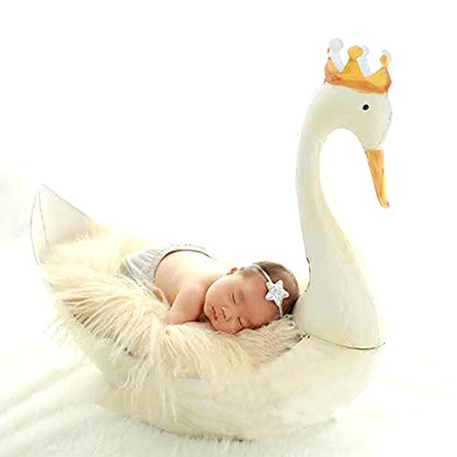 Newborn Photography Props Bebe Cute White Swan Props Gifts New Baby Props Studio Photo Prop