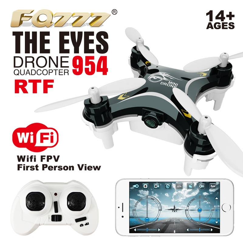 Fq777954 Unmanned Aerial Vehicle WiFi Mini Set High Aircraft For Areal Photography Remote Control Aircraft Model Airplane-Shaped