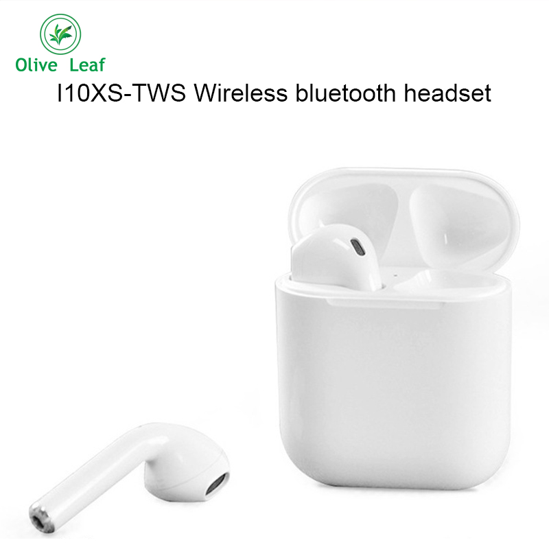 <font><b>I10XS</b></font>-<font><b>TWS</b></font> Wireless bluetooth 5.0 headset Small and convenient touch 3D stereo bluetooth headset Sports fashion With electric box image