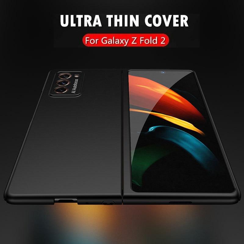 Ультратонкий чехол для Samsung Galaxy Z, Складывающийся в два раза, Роскошные тонкие жесткие чехлы из поликарбоната для Galaxy Fold2, Складывающийся спе...