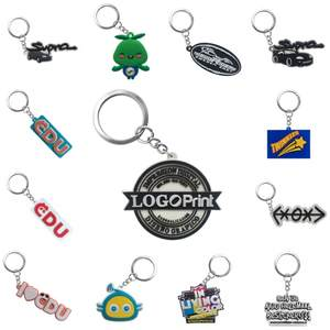 Keychain Key-Ring Logo Customization Personalized Chains-Your-Own-Design for Wholesale