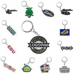 Gepersonaliseerde Maatwerk PVC sleutelhangers Uw Eigen Ontwerp Logo Custom Design Sleutelhanger Sleutelhanger voor Groothandel